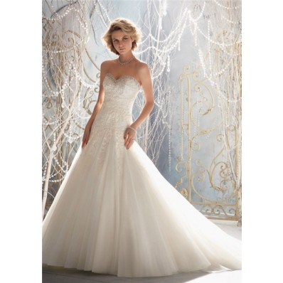 a line princess sweetheart pleated tulle lace beaded