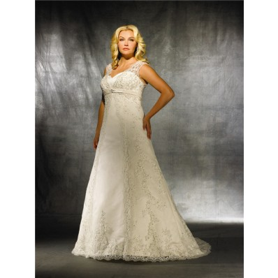 A line sweetheart modest vintage lace wedding dress for plus size women
