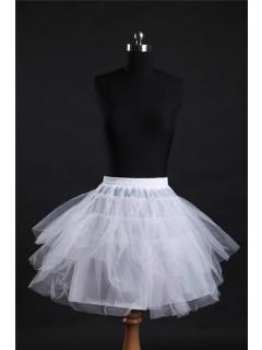Ball Gown Knee Length Short White Net Crinoline Slip Petticoat