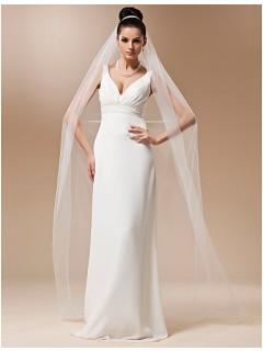 Princess One Layer Plain Tulle Chapel Wedding Bridal Veil