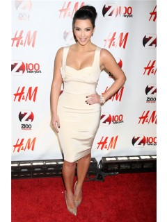Sexy Tight Short kim kardashian White Dress With Straps