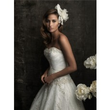 Ball Gown Sweetheart Organza Wedding Dress With Sparkle Sequins Applique