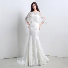 Classy Mermaid Sweetheart Corset Back Vintage Lace Wedding Dress With Jacket
