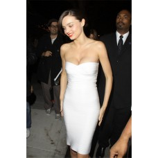 Fashion Sexy Sweetheart Tight Short White Bodycon Bandage Evening Party Dress