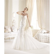 Fit And Flare Sweetheart Neckline Illusion Back Lace Wedding Dress With Straps