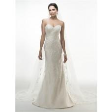Gorgeous Mermaid Strapless Sweetheart Lace Beaded Wedding Dress