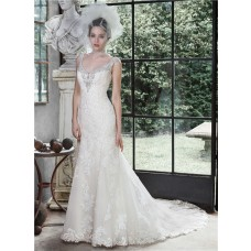 Gorgeous Mermaid Sweetheart Open Back Vintage Lace Wedding Dress With Crystals Pearls