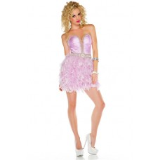 Sexy Sweetheart Short/ Mini Lilac Purple Feather Beading Cocktail Party Dress