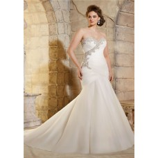 a line sweetheart corset back ruched organza satin plus