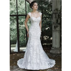 Vintage Mermaid Sweetheart Lace Corset Wedding Dress With Detachable Straps