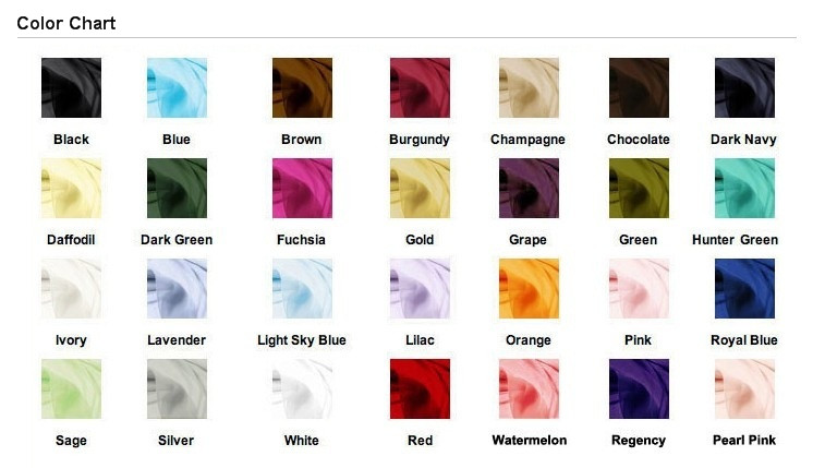 chiffon color chart